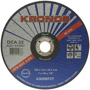 "Disco de Corte Kronos DCA 22 - 9"" X 1/8"" x 7/8"""