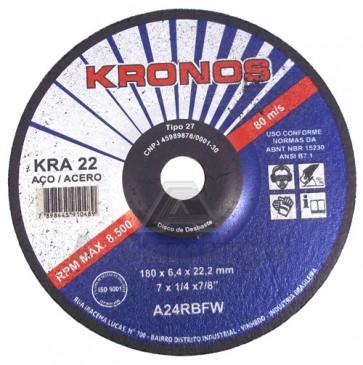 """Disco de Desbaste Kronos KRA 22 - 7"""" X 1/4"""" x 7/8"""""""
