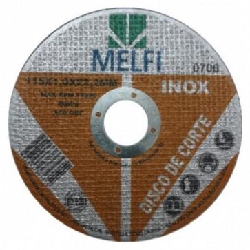 "Disco de Corte p/ Inox Melfi - 4""1/2 X 1,0"