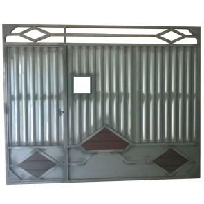 Portão de Garagem Basculante de Chapa Galvanizada 2,60 X 3,46 mt